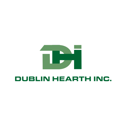 Logo Design by Rudy - Entry No. 7 in the Logo Design Contest clean professional  Logo Design for Dublin Hearth Inc. with a splash of fun with letter head.
