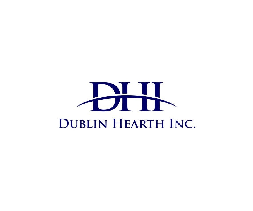 Logo Design by untung - Entry No. 8 in the Logo Design Contest clean professional  Logo Design for Dublin Hearth Inc. with a splash of fun with letter head.