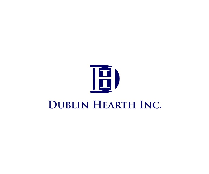 Logo Design by untung - Entry No. 9 in the Logo Design Contest clean professional  Logo Design for Dublin Hearth Inc. with a splash of fun with letter head.