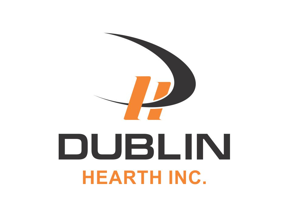 Logo Design by Muhammad Aslam - Entry No. 10 in the Logo Design Contest clean professional  Logo Design for Dublin Hearth Inc. with a splash of fun with letter head.