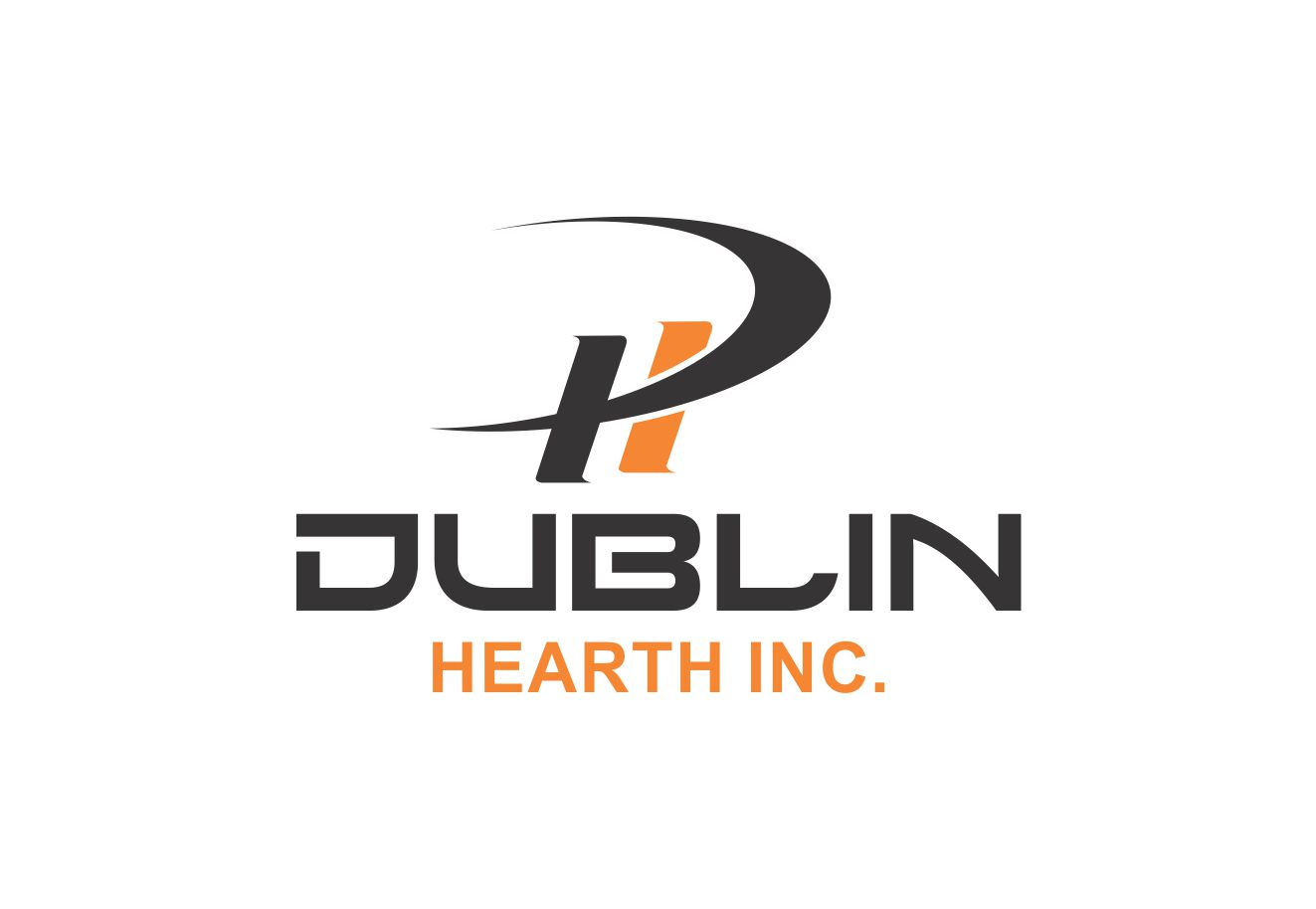 Logo Design by Muhammad Aslam - Entry No. 11 in the Logo Design Contest clean professional  Logo Design for Dublin Hearth Inc. with a splash of fun with letter head.