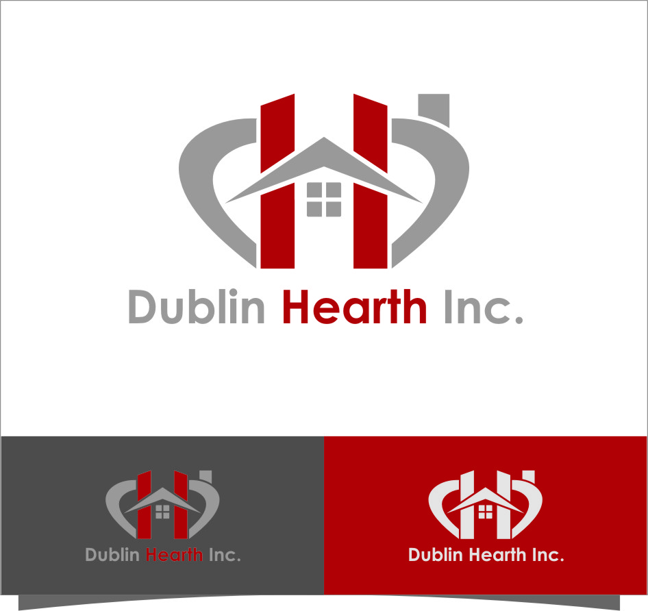 Logo Design by RasYa Muhammad Athaya - Entry No. 15 in the Logo Design Contest clean professional  Logo Design for Dublin Hearth Inc. with a splash of fun with letter head.