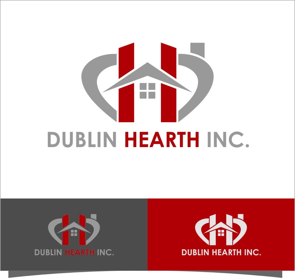 Logo Design by Ngepet_art - Entry No. 16 in the Logo Design Contest clean professional  Logo Design for Dublin Hearth Inc. with a splash of fun with letter head.