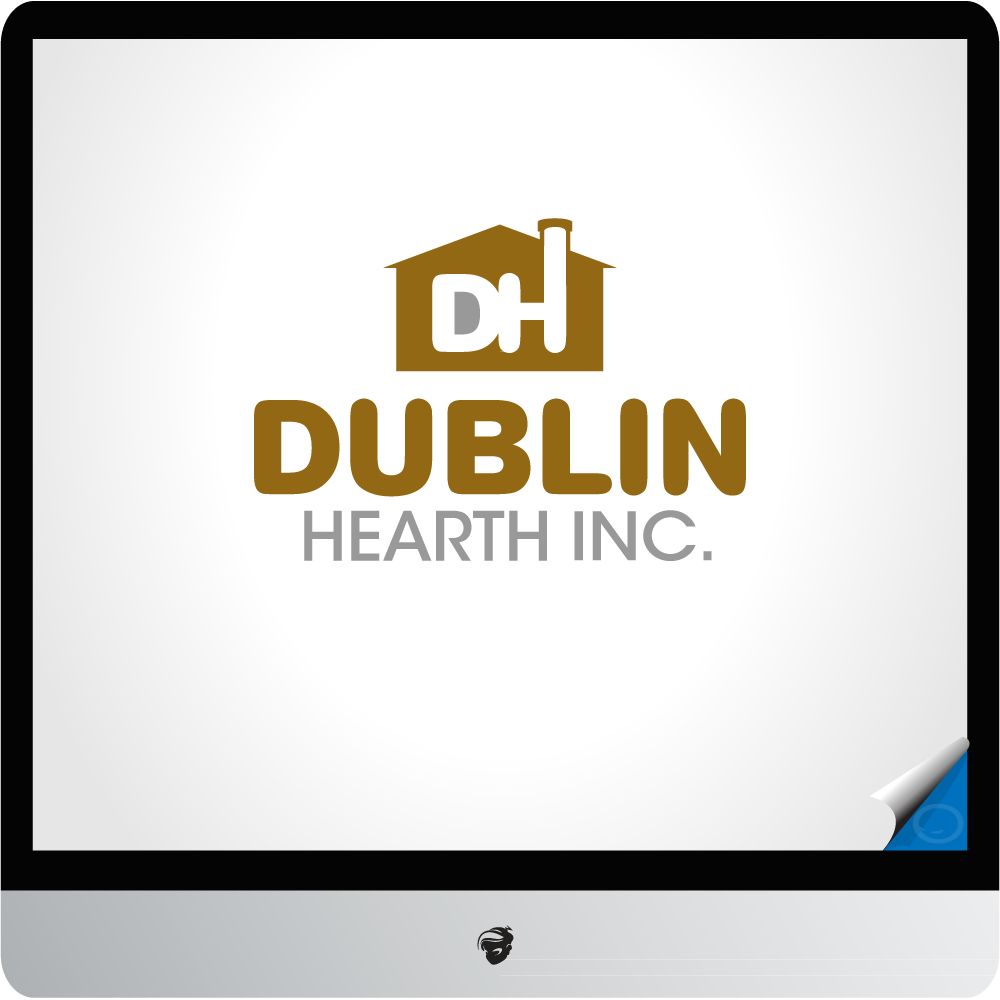 Logo Design by zesthar - Entry No. 19 in the Logo Design Contest clean professional  Logo Design for Dublin Hearth Inc. with a splash of fun with letter head.
