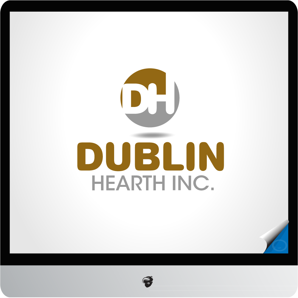 Logo Design by zesthar - Entry No. 20 in the Logo Design Contest clean professional  Logo Design for Dublin Hearth Inc. with a splash of fun with letter head.