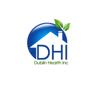 Logo Design by Crystal Desizns - Entry No. 21 in the Logo Design Contest clean professional  Logo Design for Dublin Hearth Inc. with a splash of fun with letter head.