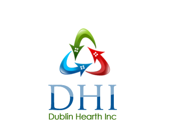 Logo Design by Crystal Desizns - Entry No. 22 in the Logo Design Contest clean professional  Logo Design for Dublin Hearth Inc. with a splash of fun with letter head.