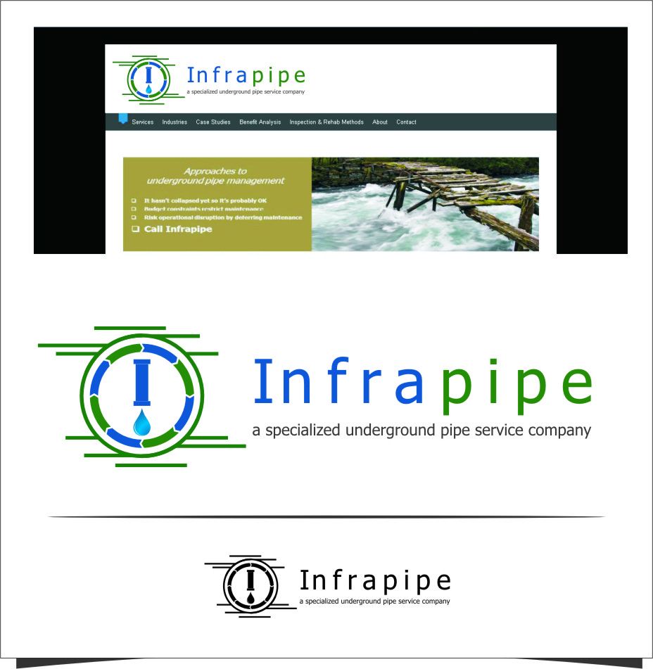 Logo Design by RasYa Muhammad Athaya - Entry No. 88 in the Logo Design Contest Inspiring Logo Design for Infrapipe.