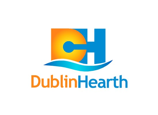 Logo Design by Ismail Adhi Wibowo - Entry No. 26 in the Logo Design Contest clean professional  Logo Design for Dublin Hearth Inc. with a splash of fun with letter head.