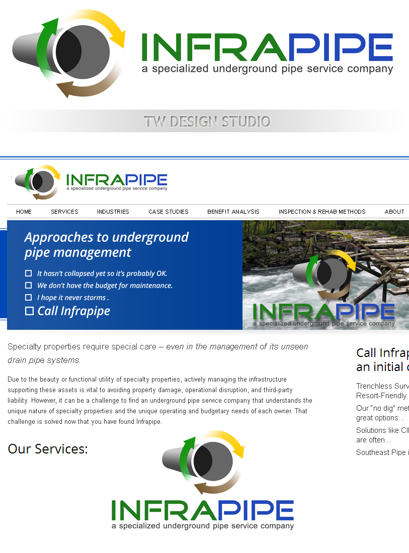 Logo Design by Private User - Entry No. 105 in the Logo Design Contest Inspiring Logo Design for Infrapipe.