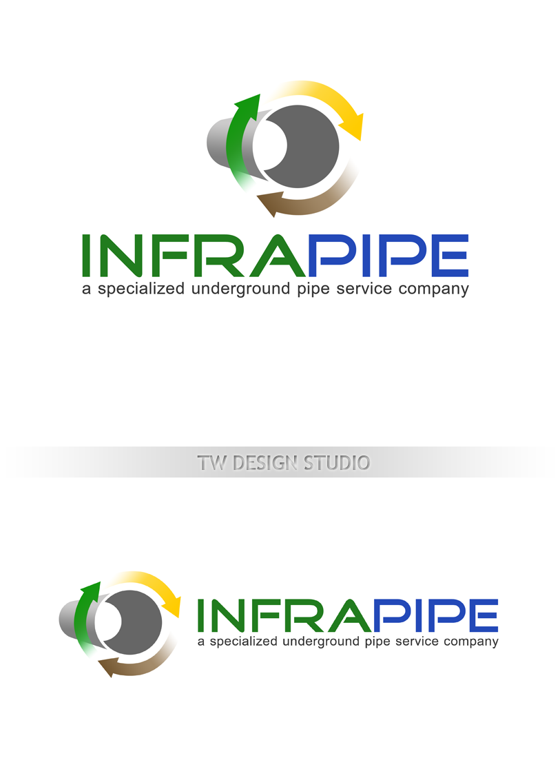 Logo Design by Private User - Entry No. 106 in the Logo Design Contest Inspiring Logo Design for Infrapipe.