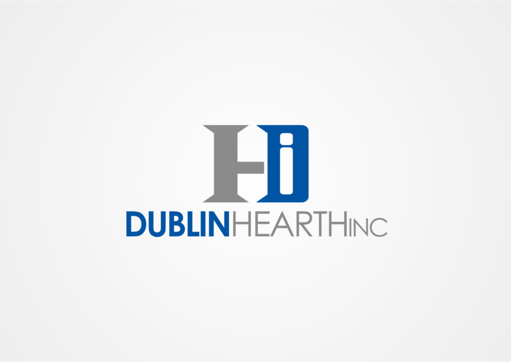 Logo Design by Private User - Entry No. 27 in the Logo Design Contest clean professional  Logo Design for Dublin Hearth Inc. with a splash of fun with letter head.