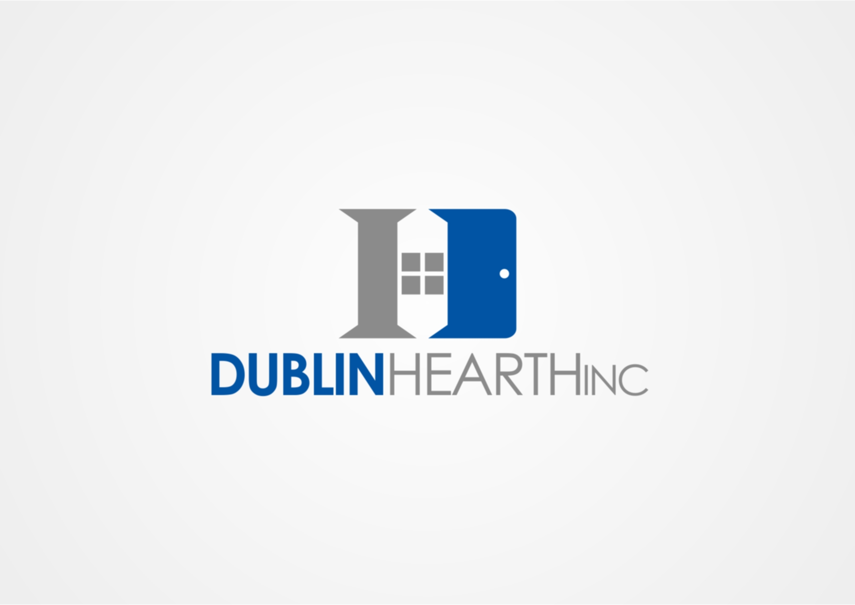 Logo Design by Private User - Entry No. 28 in the Logo Design Contest clean professional  Logo Design for Dublin Hearth Inc. with a splash of fun with letter head.