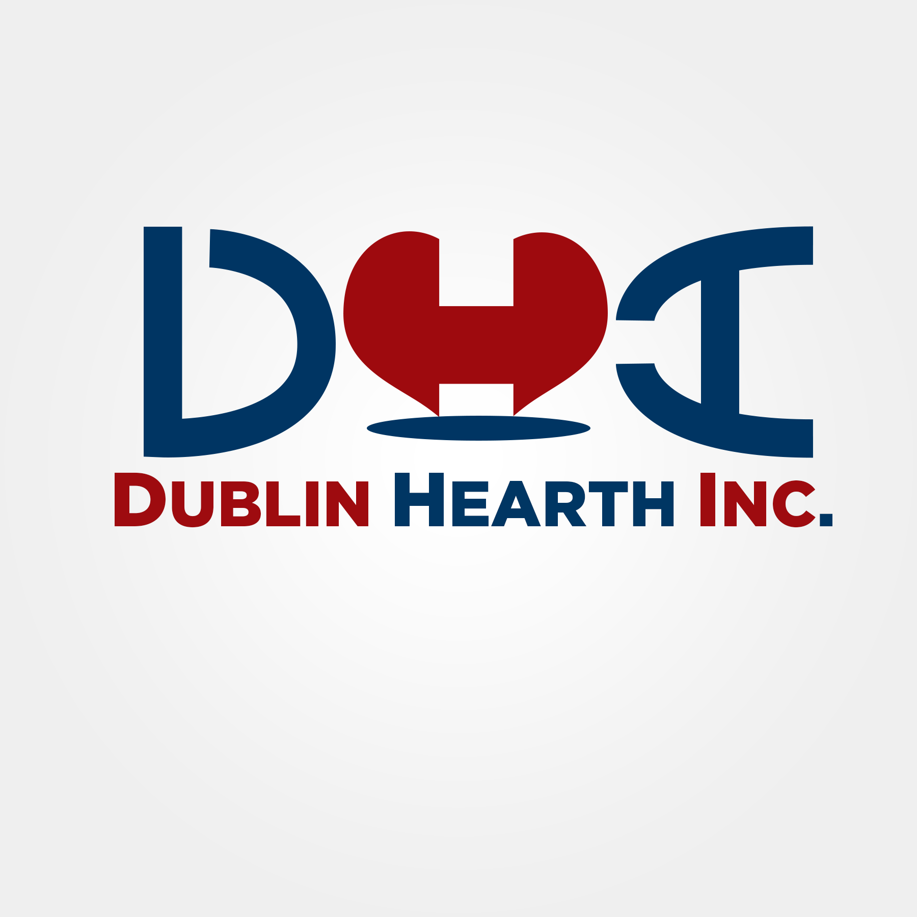 Logo Design by Lemuel Arvin Tanzo - Entry No. 29 in the Logo Design Contest clean professional  Logo Design for Dublin Hearth Inc. with a splash of fun with letter head.