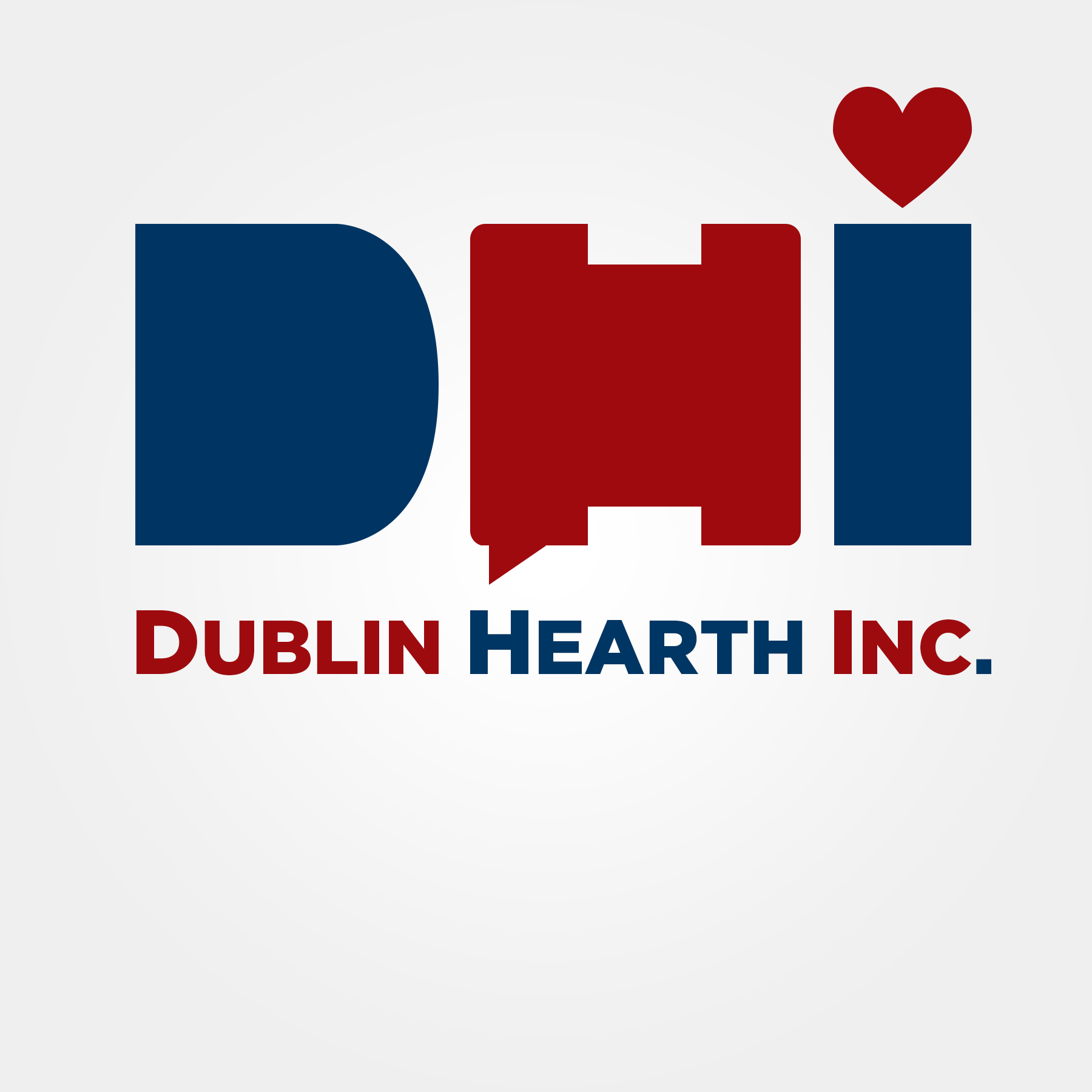 Logo Design by Lemuel Arvin Tanzo - Entry No. 31 in the Logo Design Contest clean professional  Logo Design for Dublin Hearth Inc. with a splash of fun with letter head.