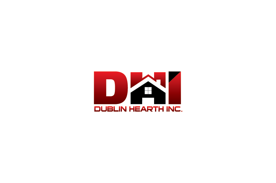 Logo Design by Private User - Entry No. 34 in the Logo Design Contest clean professional  Logo Design for Dublin Hearth Inc. with a splash of fun with letter head.