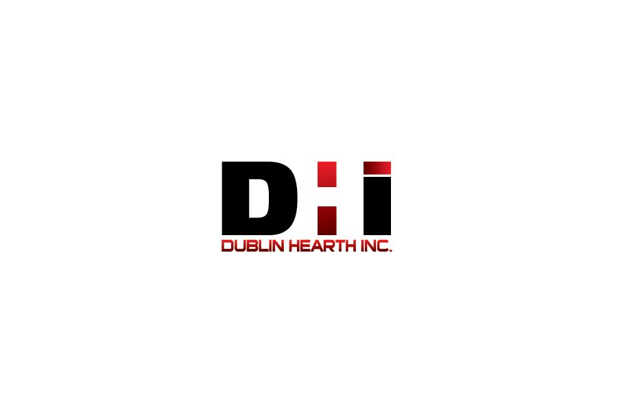Logo Design by Private User - Entry No. 35 in the Logo Design Contest clean professional  Logo Design for Dublin Hearth Inc. with a splash of fun with letter head.