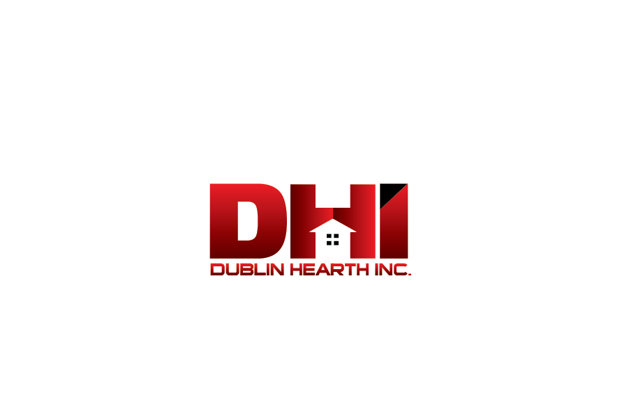 Logo Design by Private User - Entry No. 36 in the Logo Design Contest clean professional  Logo Design for Dublin Hearth Inc. with a splash of fun with letter head.