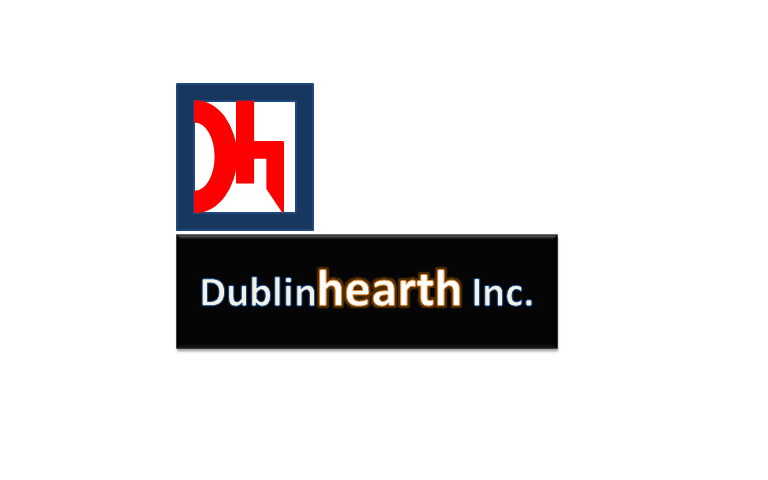 Logo Design by Ram Modhvadiya - Entry No. 37 in the Logo Design Contest clean professional  Logo Design for Dublin Hearth Inc. with a splash of fun with letter head.