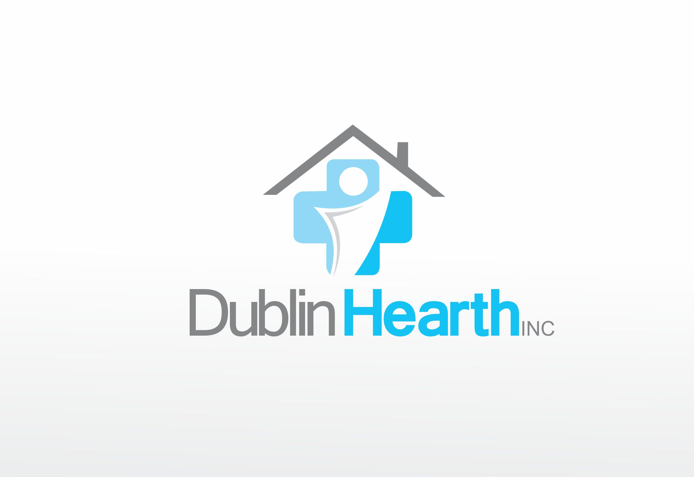 Logo Design by Web Sourcing - Entry No. 38 in the Logo Design Contest clean professional  Logo Design for Dublin Hearth Inc. with a splash of fun with letter head.