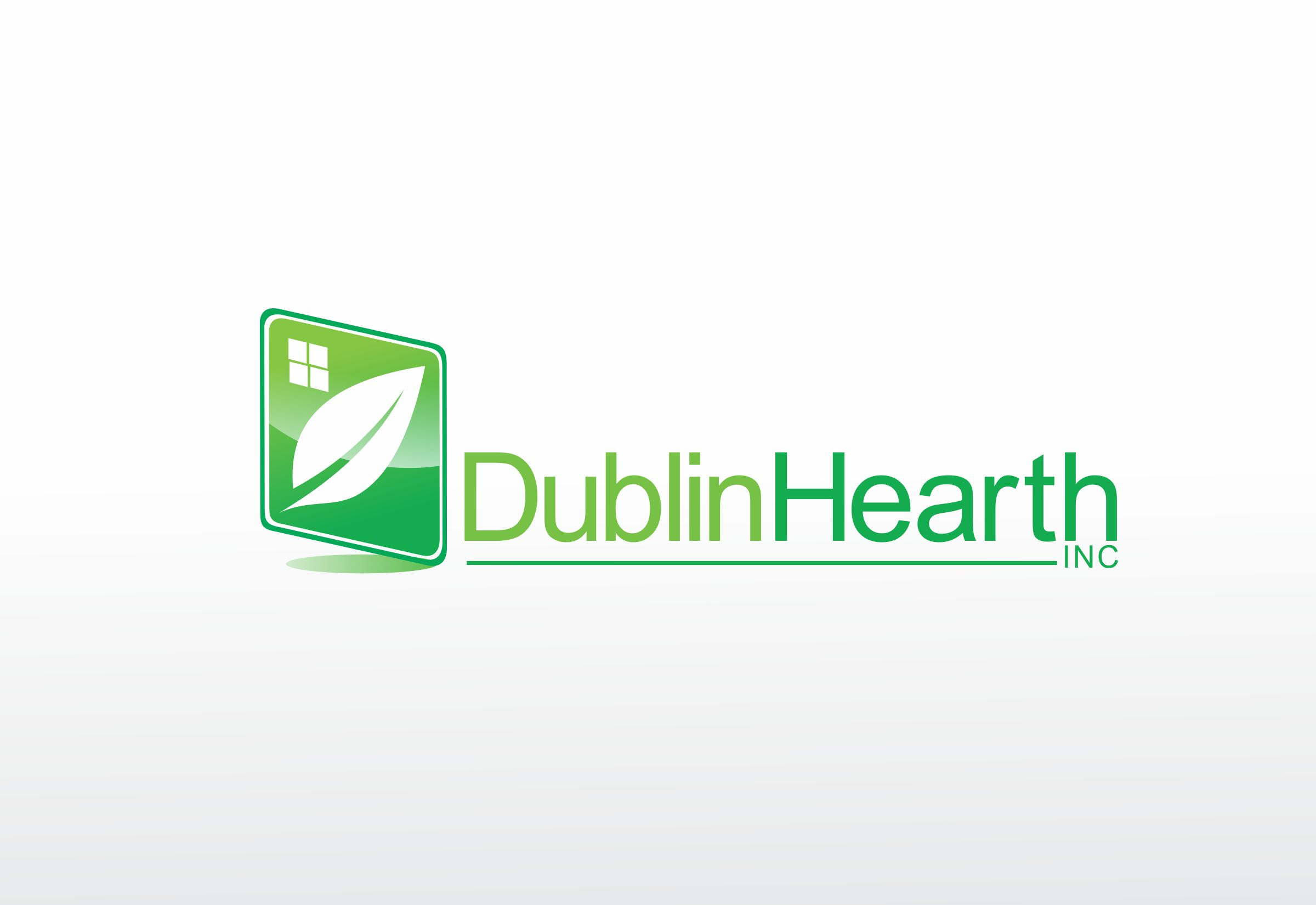 Logo Design by Web Sourcing - Entry No. 39 in the Logo Design Contest clean professional  Logo Design for Dublin Hearth Inc. with a splash of fun with letter head.