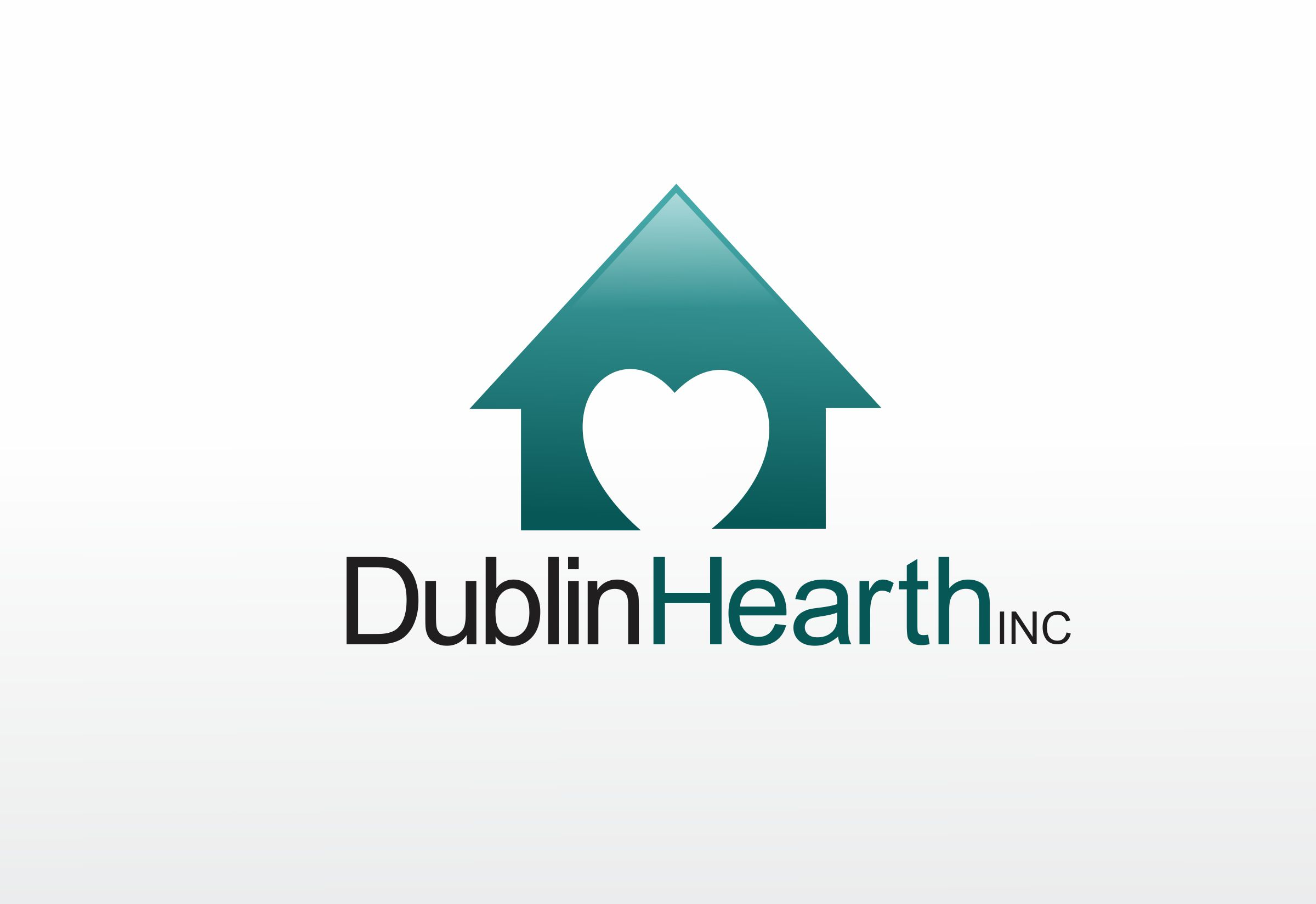 Logo Design by Web Sourcing - Entry No. 40 in the Logo Design Contest clean professional  Logo Design for Dublin Hearth Inc. with a splash of fun with letter head.