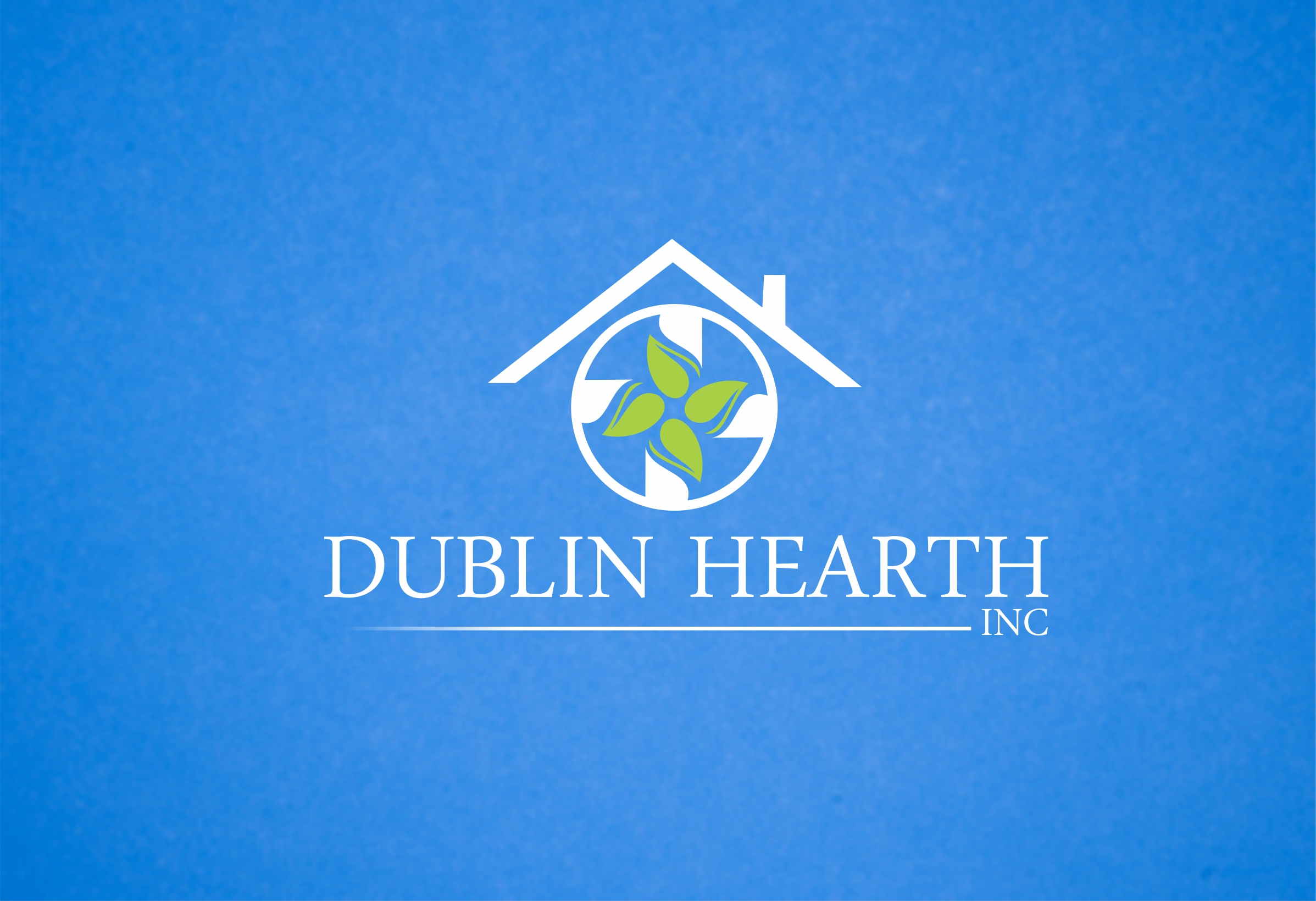 Logo Design by Web Sourcing - Entry No. 41 in the Logo Design Contest clean professional  Logo Design for Dublin Hearth Inc. with a splash of fun with letter head.