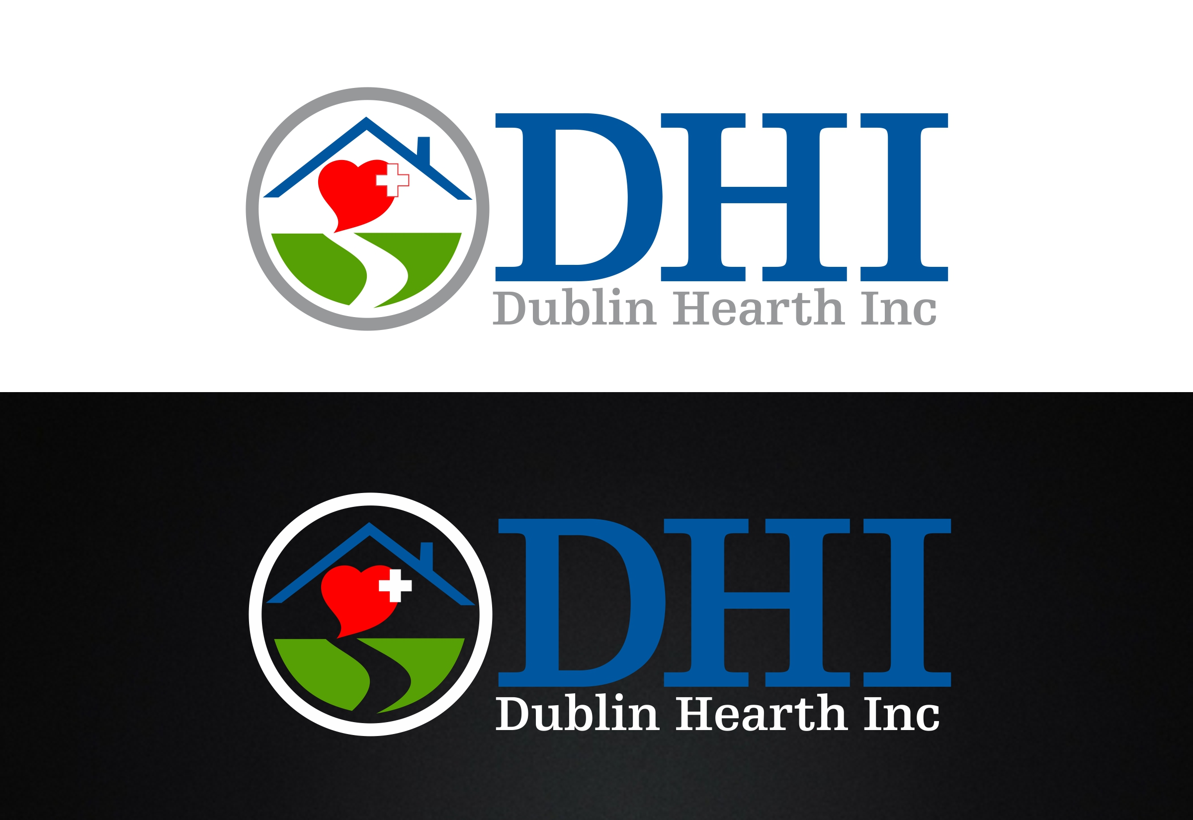 Logo Design by Web Sourcing - Entry No. 42 in the Logo Design Contest clean professional  Logo Design for Dublin Hearth Inc. with a splash of fun with letter head.