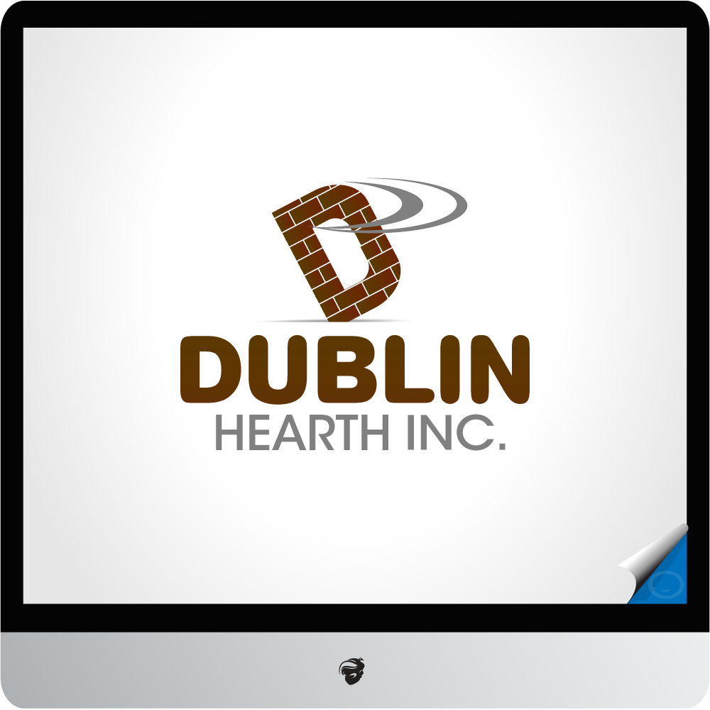 Logo Design by zesthar - Entry No. 44 in the Logo Design Contest clean professional  Logo Design for Dublin Hearth Inc. with a splash of fun with letter head.