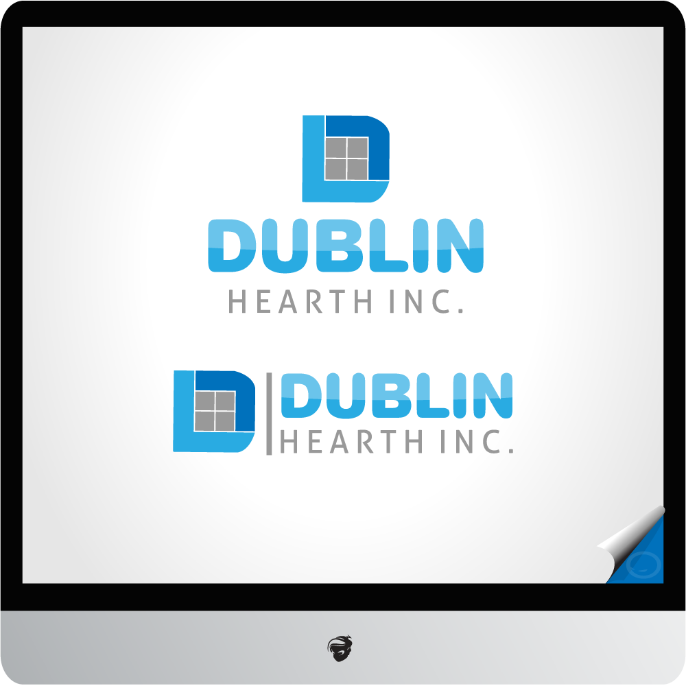 Logo Design by zesthar - Entry No. 46 in the Logo Design Contest clean professional  Logo Design for Dublin Hearth Inc. with a splash of fun with letter head.