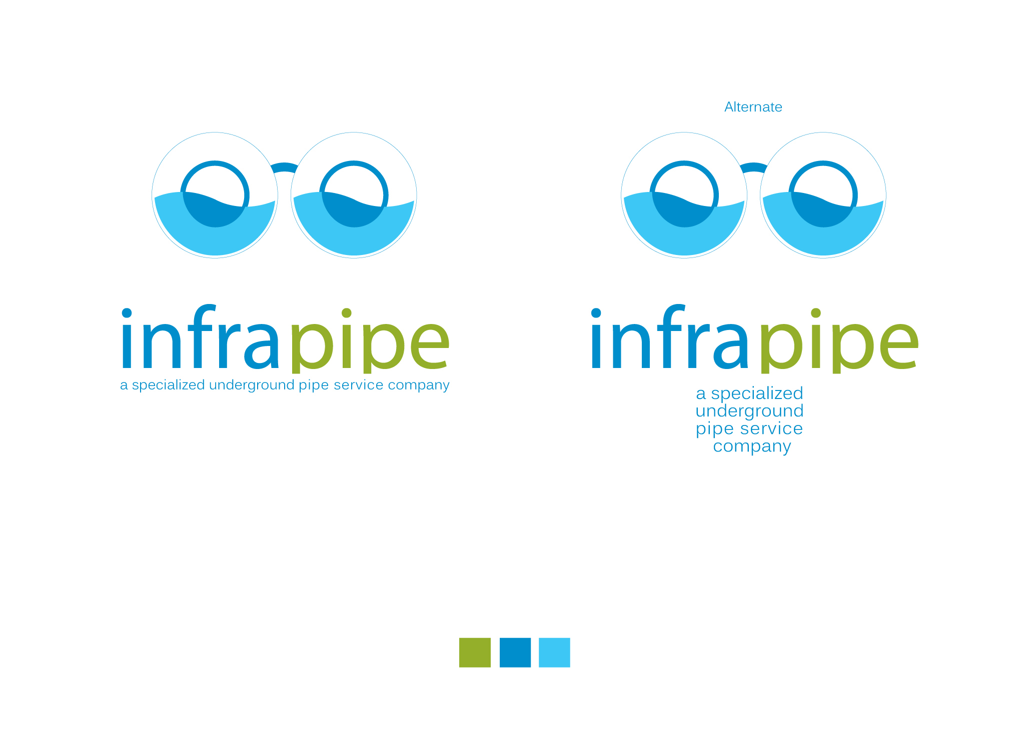 Logo Design by Alexandros Konstantinou - Entry No. 134 in the Logo Design Contest Inspiring Logo Design for Infrapipe.