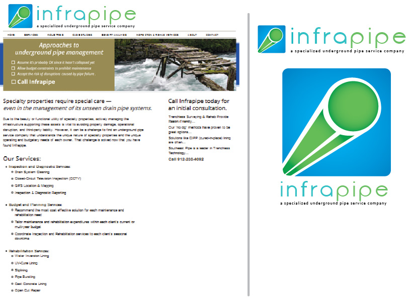 Logo Design by Iskander Dino - Entry No. 139 in the Logo Design Contest Inspiring Logo Design for Infrapipe.