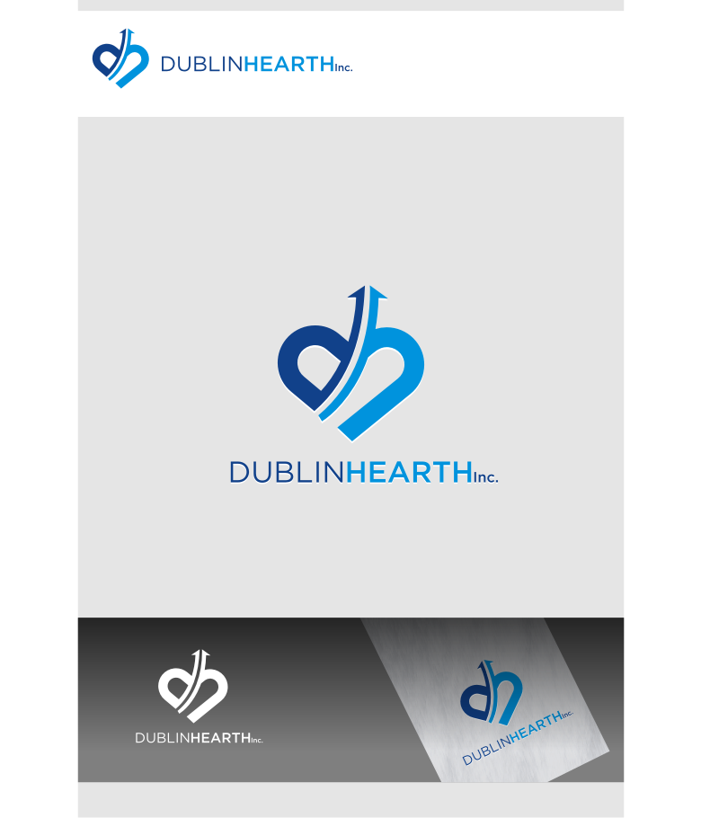 Logo Design by graphicleaf - Entry No. 49 in the Logo Design Contest clean professional  Logo Design for Dublin Hearth Inc. with a splash of fun with letter head.