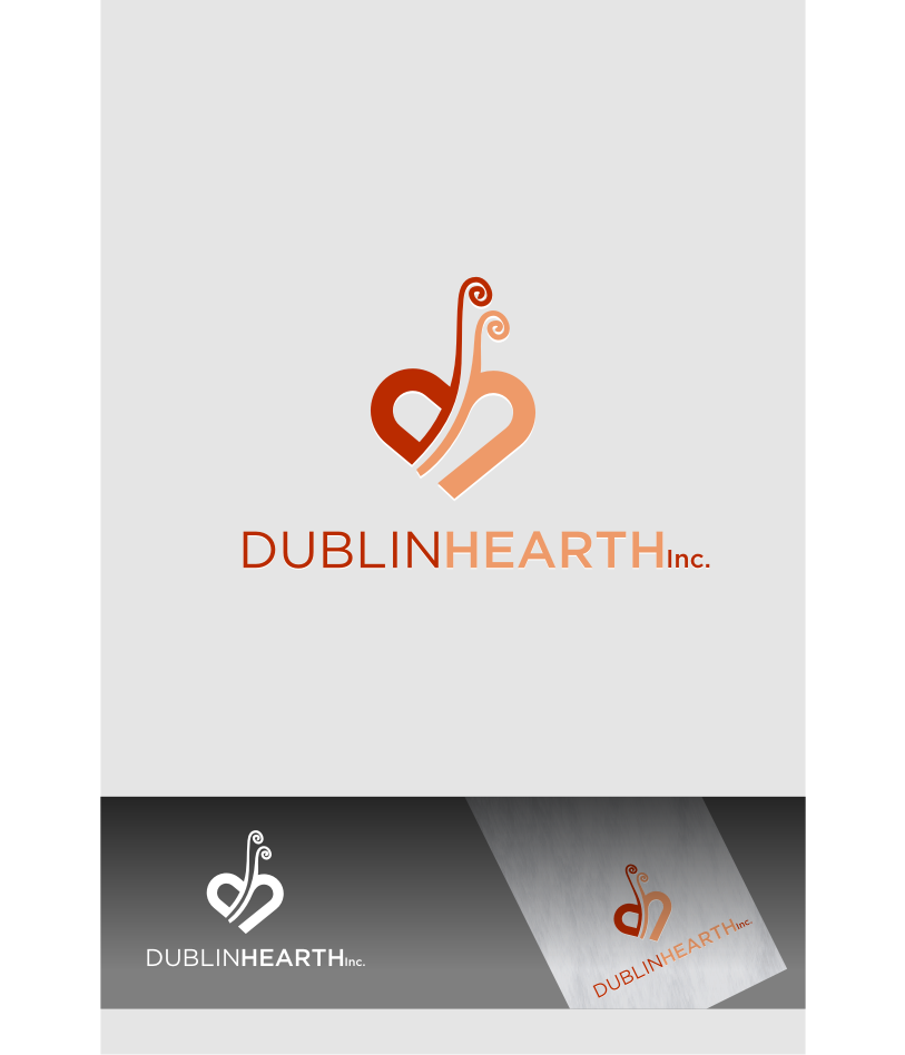 Logo Design by graphicleaf - Entry No. 50 in the Logo Design Contest clean professional  Logo Design for Dublin Hearth Inc. with a splash of fun with letter head.
