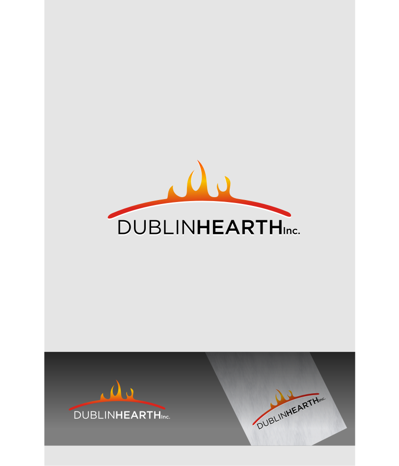 Logo Design by graphicleaf - Entry No. 51 in the Logo Design Contest clean professional  Logo Design for Dublin Hearth Inc. with a splash of fun with letter head.
