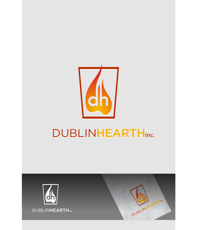 Logo Design by Muhammad Nasrul chasib - Entry No. 52 in the Logo Design Contest clean professional  Logo Design for Dublin Hearth Inc. with a splash of fun with letter head.