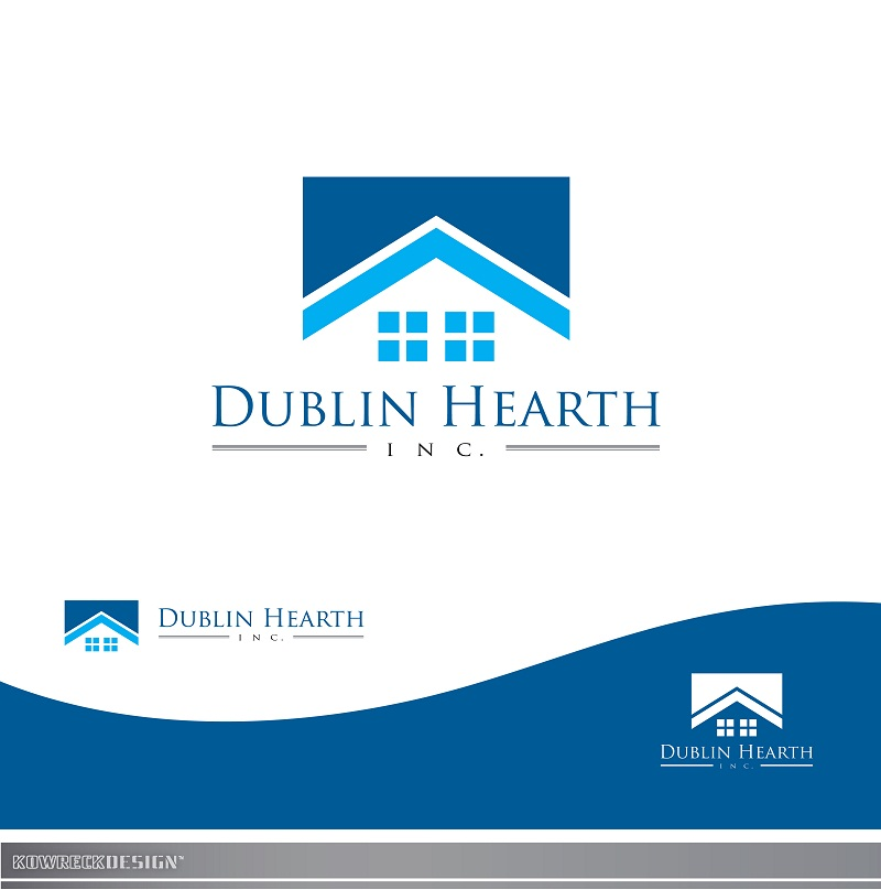 Logo Design by kowreck - Entry No. 55 in the Logo Design Contest clean professional  Logo Design for Dublin Hearth Inc. with a splash of fun with letter head.