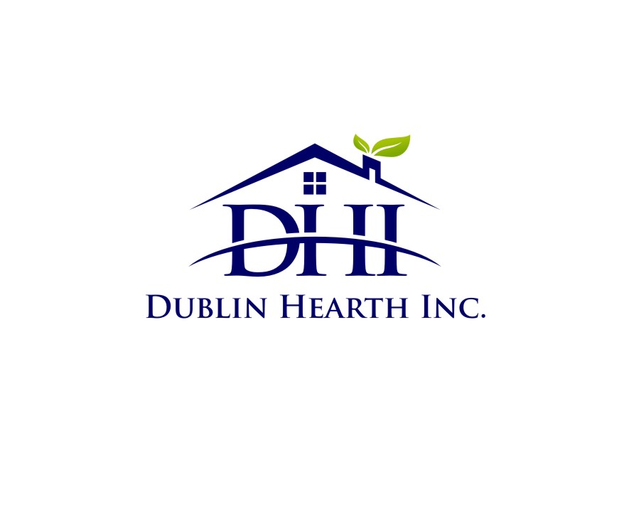 Logo Design by untung - Entry No. 58 in the Logo Design Contest clean professional  Logo Design for Dublin Hearth Inc. with a splash of fun with letter head.
