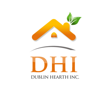Logo Design by Crystal Desizns - Entry No. 60 in the Logo Design Contest clean professional  Logo Design for Dublin Hearth Inc. with a splash of fun with letter head.