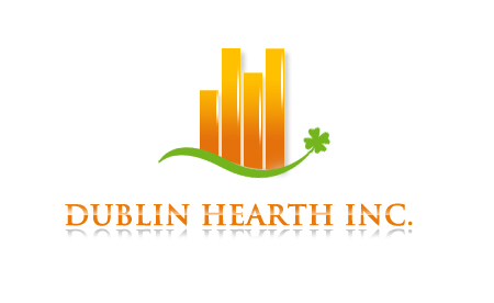 Logo Design by Crystal Desizns - Entry No. 61 in the Logo Design Contest clean professional  Logo Design for Dublin Hearth Inc. with a splash of fun with letter head.