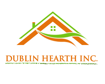 Logo Design by Crystal Desizns - Entry No. 62 in the Logo Design Contest clean professional  Logo Design for Dublin Hearth Inc. with a splash of fun with letter head.