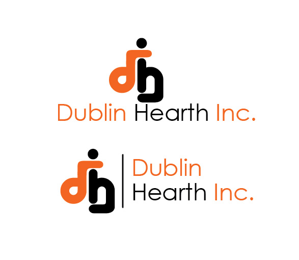 Logo Design by Iskander Dino - Entry No. 63 in the Logo Design Contest clean professional  Logo Design for Dublin Hearth Inc. with a splash of fun with letter head.