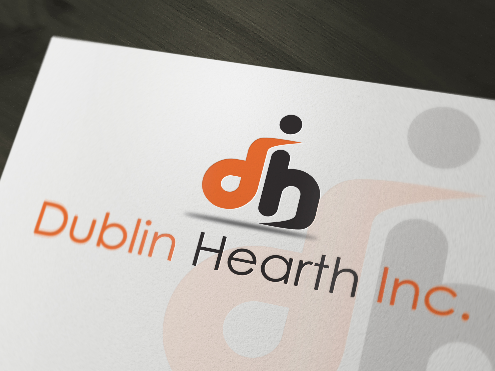 Logo Design by Iskander Dino - Entry No. 64 in the Logo Design Contest clean professional  Logo Design for Dublin Hearth Inc. with a splash of fun with letter head.