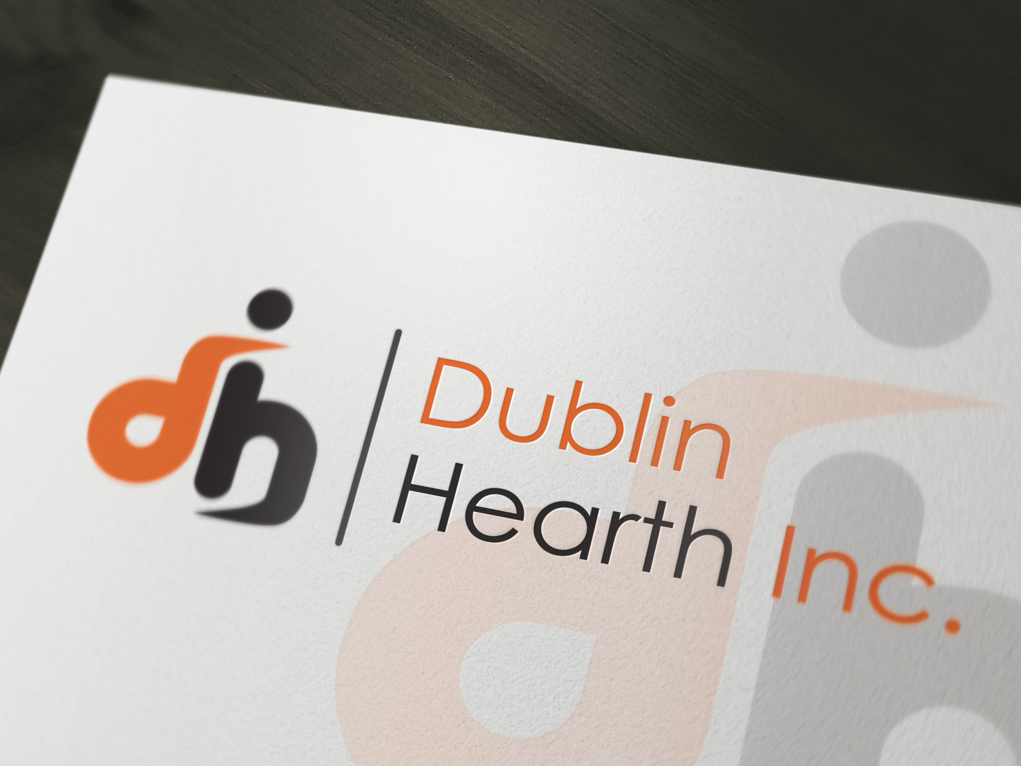 Logo Design by Iskander Dino - Entry No. 65 in the Logo Design Contest clean professional  Logo Design for Dublin Hearth Inc. with a splash of fun with letter head.
