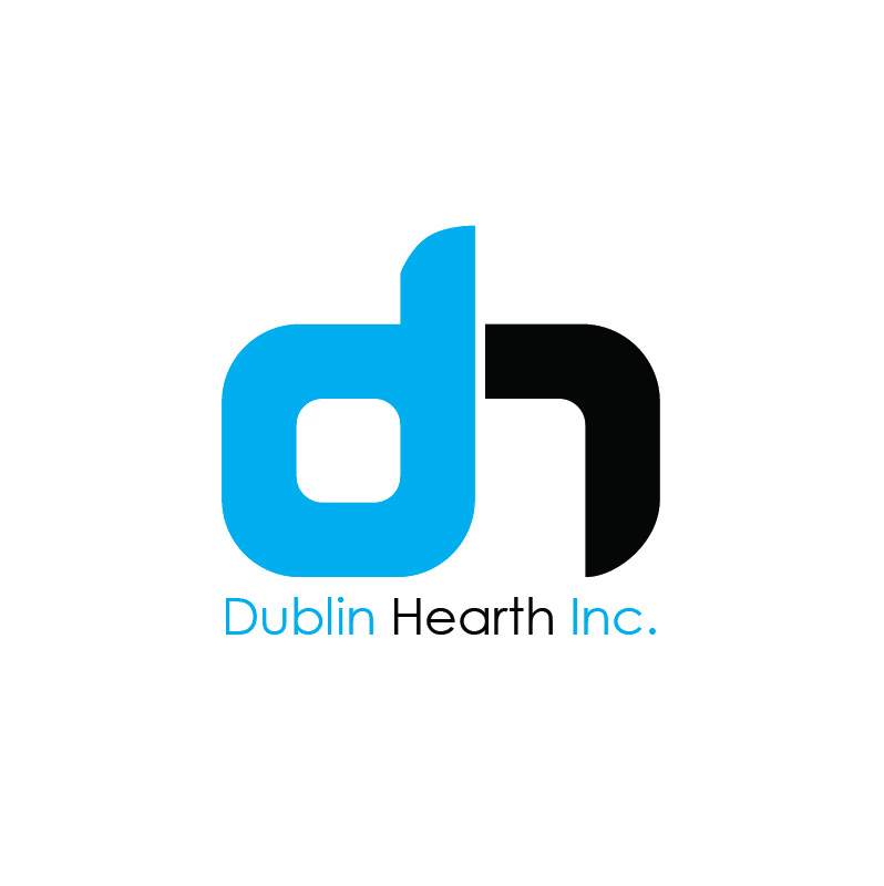 Logo Design by Iskander Dino - Entry No. 66 in the Logo Design Contest clean professional  Logo Design for Dublin Hearth Inc. with a splash of fun with letter head.
