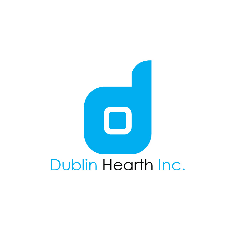 Logo Design by Iskander Dino - Entry No. 67 in the Logo Design Contest clean professional  Logo Design for Dublin Hearth Inc. with a splash of fun with letter head.