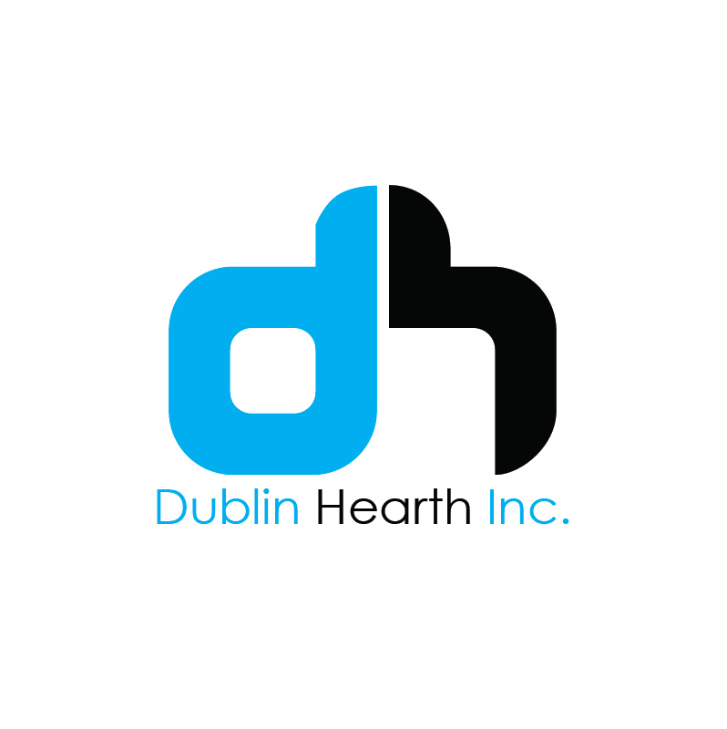 Logo Design by Iskander Dino - Entry No. 68 in the Logo Design Contest clean professional  Logo Design for Dublin Hearth Inc. with a splash of fun with letter head.