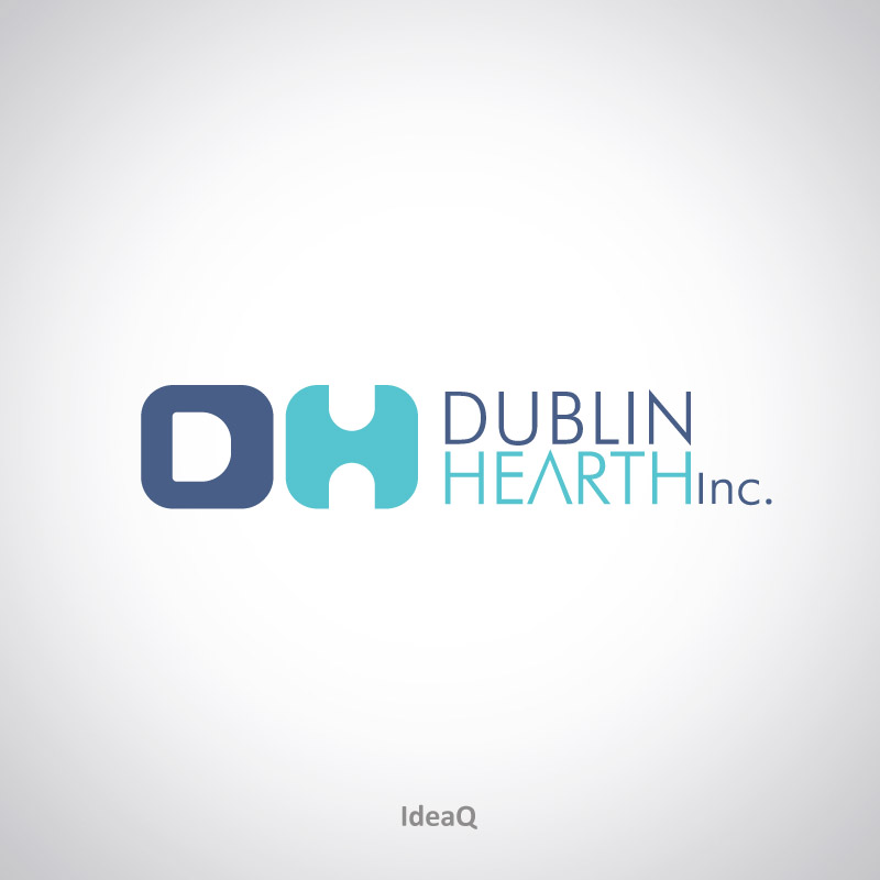 Logo Design by Private User - Entry No. 69 in the Logo Design Contest clean professional  Logo Design for Dublin Hearth Inc. with a splash of fun with letter head.