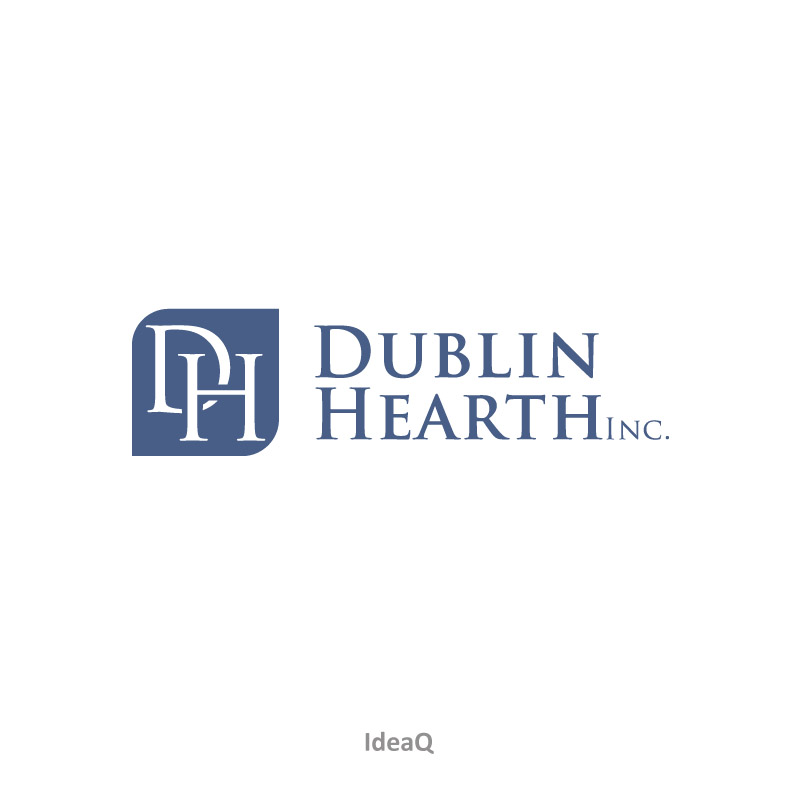 Logo Design by Private User - Entry No. 70 in the Logo Design Contest clean professional  Logo Design for Dublin Hearth Inc. with a splash of fun with letter head.