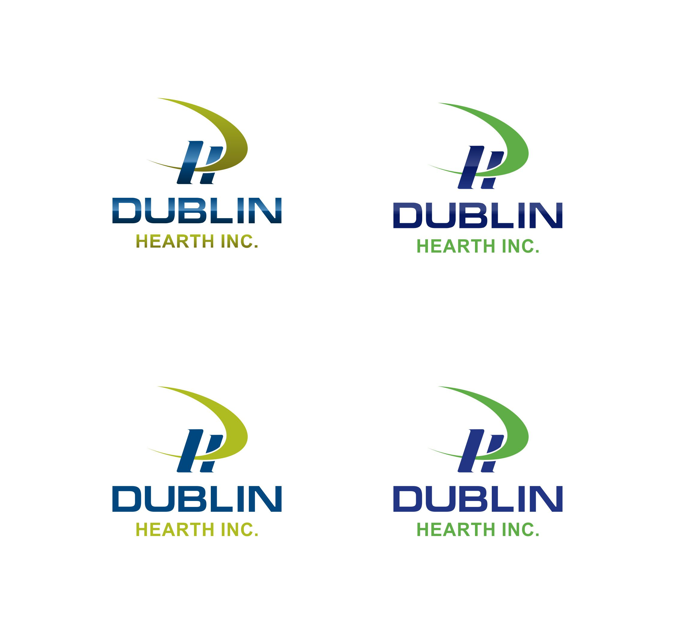 Logo Design by Muhammad Aslam - Entry No. 75 in the Logo Design Contest clean professional  Logo Design for Dublin Hearth Inc. with a splash of fun with letter head.